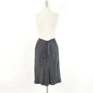 Banana Republic Polka Dot Bias-Cut Silk Midi Skirt